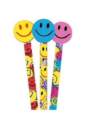 Smiles Pencil Toppers - Tub of 36