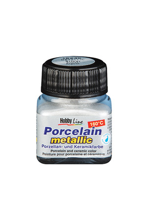 Porcelain Paint (20ml) - Metallic Silver