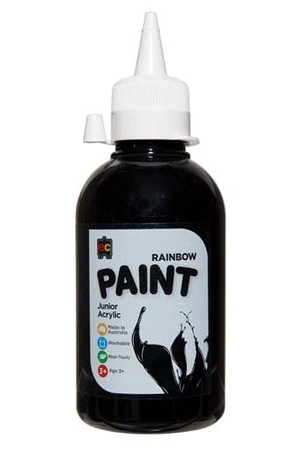 Rainbow Paint Junior Acrylic Paint 250mL - Black
