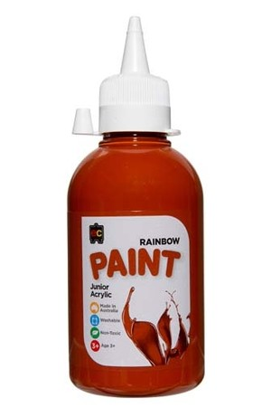 Rainbow Paint Junior Acrylic Paint 250mL - Burnt Sienna