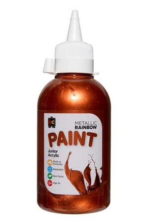 Metallic Rainbow Paint Junior Acrylic Paint 250mL - Copper