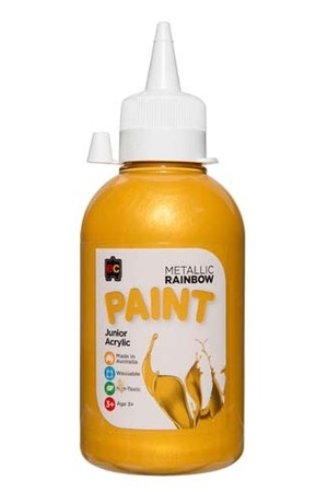 Metallic Rainbow Paint Junior Acrylic Paint 250mL - Gold
