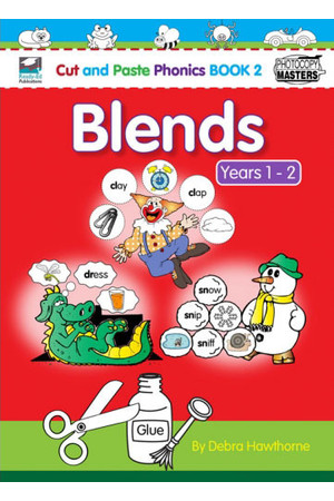 Cut and Paste Phonics - Book 2: Blends