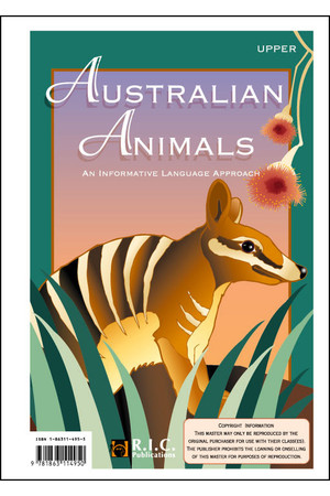 Australian Animals - Ages 10-12