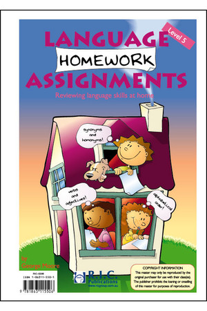 Language Homework Assignments - Level 5: Ages 9-10