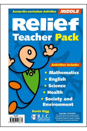 Relief Teacher Pack - Ages 8-10