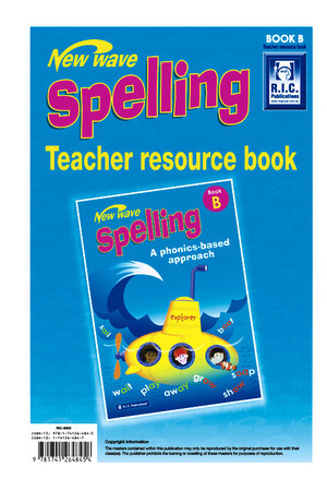New Wave Spelling - Teacher Resource Book B: Ages 6-7