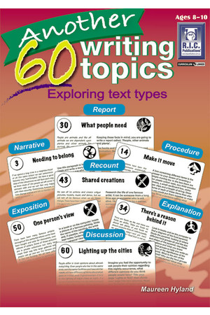 Another 60 Writing Topics - Ages 8-10