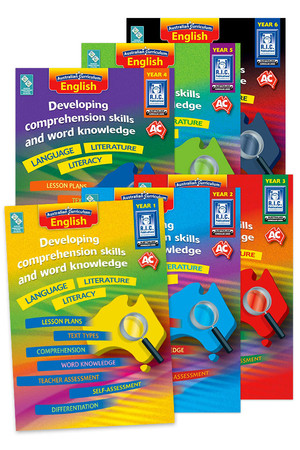 Australian Curriculum English - Developing Comprehension Skills and Word Knowledge: Book Pack