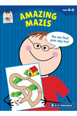 Stick Kids English - Ages 4-5: Amazing Mazes