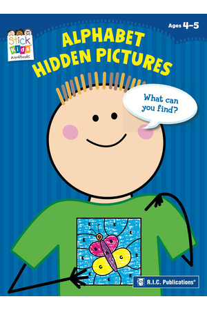 Stick Kids English - Ages 4-5: Alphabet Hidden Pictures