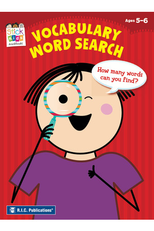 Stick Kids English - Ages 5-6: Vocabulary Word Search