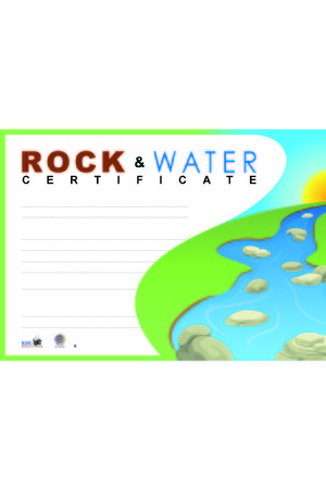 Rock and Water Certificates
