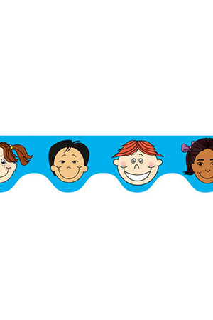 Multicultural Kids Scalloped Border
