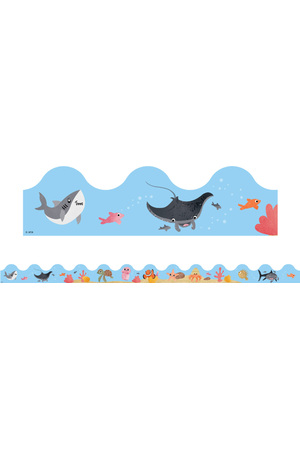Sea Creatures Scalloped Border