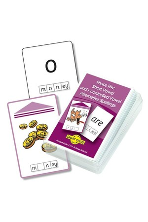 Letters & Sounds Chute Cards - Phase 5: Short & R-ControlledVowel Alternative Spellings