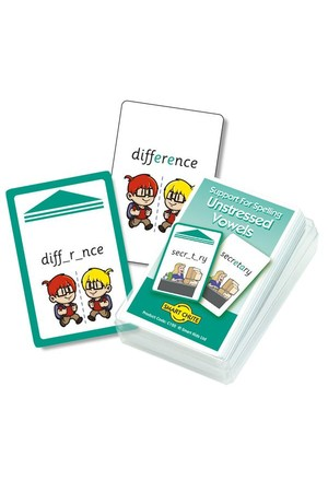 Unstressed Vowels - Chute Cards