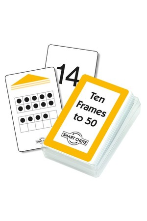 Ten Frames to Fifty – Chute Cards