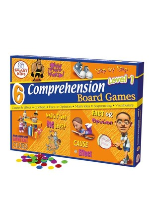 Reading Comprehension Board Games (Level 1) – 6 Games