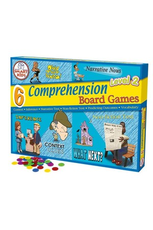 Reading Comprehension Board Games (Level 2) – 6 Games