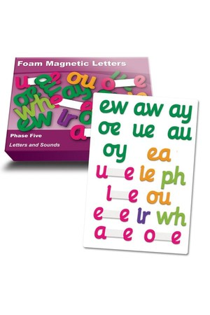 Magnetic Foam Letters – Phase 5 (Letters and Sounds)