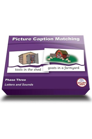 Picture Caption Matching (Set 2) - Phase 3 (Letters and Sounds)
