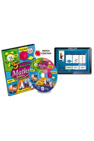 5 Maths Games CD-ROM – 5 User Licence