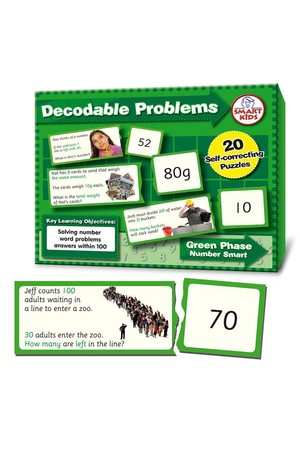 Decodable Word Problems to 100 (Number Smart)