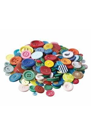 Basics - Buttons: Assorted Colours (Tub of 600g)
