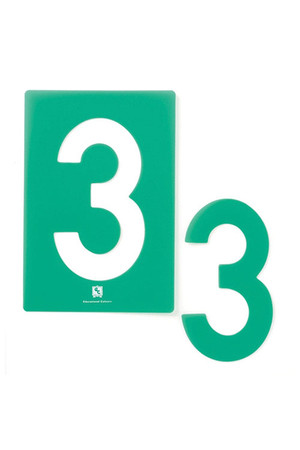 Stencil Numbers 0-9 (Small)