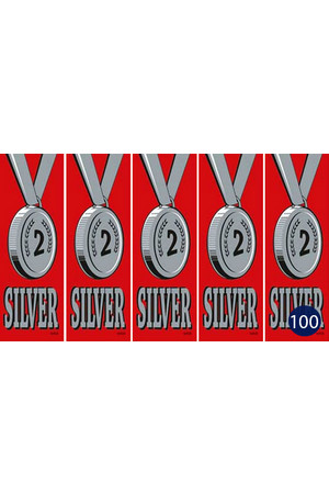 Vinyl Medal Ribbons - Silver 2: Pack of 100