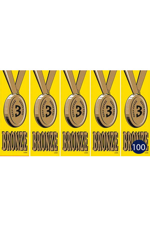 Vinyl Medal Ribbons - Bronze 3: Pack of 100