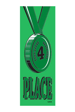 Vinyl Medal Ribbons - Green 4: Pack of 100