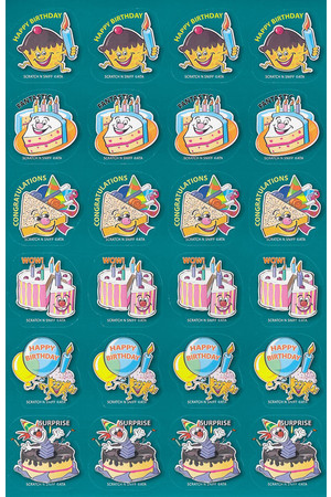 Birthday Shaped ScentSations Stickers