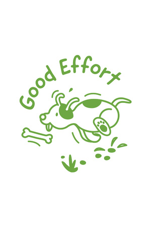 Good Effort Dog Merit Stamp