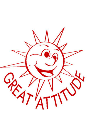 Great Attitude Sun Merit Stamp