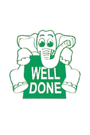 Well Done Elephant Merit Stamp