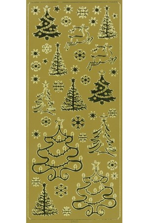 Stickers - Gold and Silver Christmas
