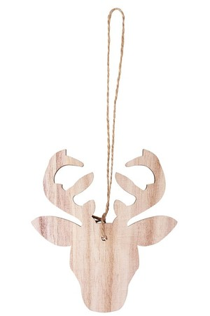 Wooden Reindeer Heads - Pack of 10