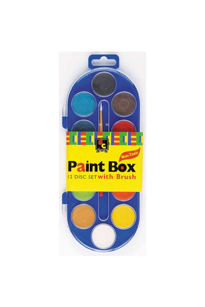 Paint Box Clear Lid: 12 Disc