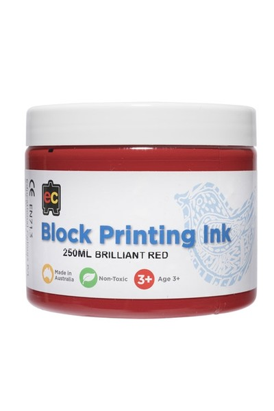 Block Printing - Brilliant Red