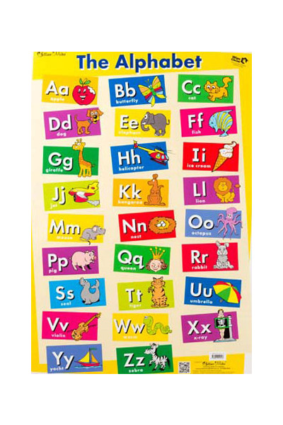 The Alphabet/My First Sight Words Double-Sided Chart