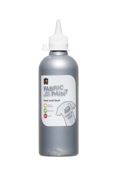 Fabric And Craft Paint 500ml - Silver