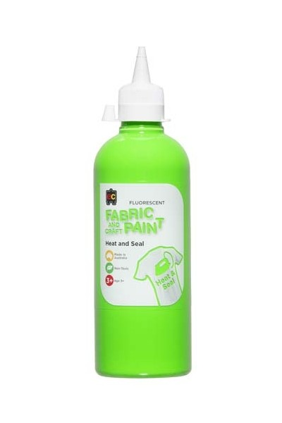 Fluorescent Fabric And Craft Paint 500mL - Green
