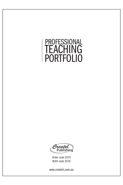 Professional Teaching Portfolio - Refill Only (Loose Leaf)
