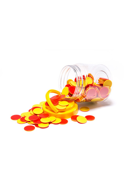 Red and Yellow Counters - Jar of 200