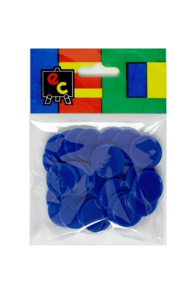 Small Colour Counters - Blue