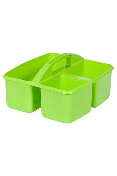 Small Plastic Caddy - Lime Green
