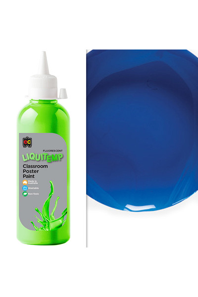 Liquitemp Fluorescent Poster Paint 500mL - Blue