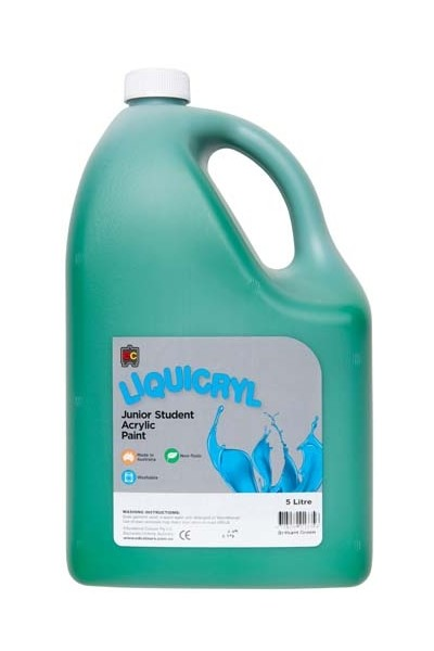 Liquicryl Junior Acrylic Paint 5L - Brilliant Green